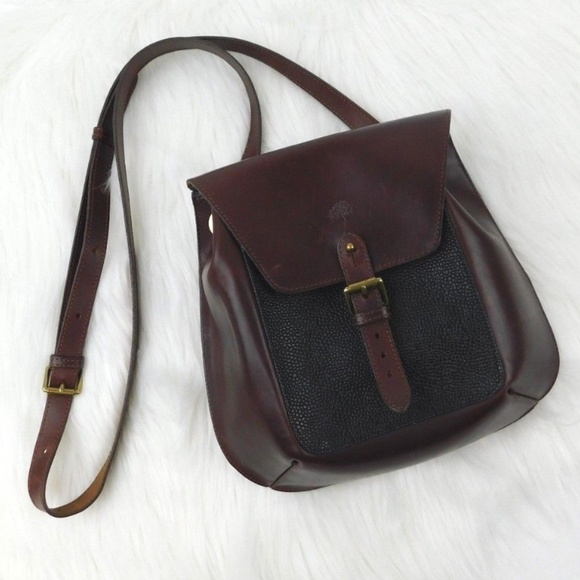 6e3d9d14b0 Mulberry England Vintage Leather Saddle Bag Purse.  M 5b4502bade6f62b853285c33